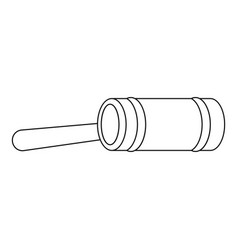 justice gavel icon outline style vector image