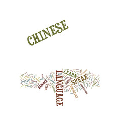 Learn to speak chinese text background word cloud vector