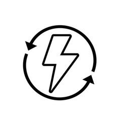 Line energy hazard symbol with arrows around vector