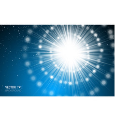 magic light blue holiday burst effect realistic vector image vector image