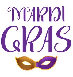 mardi gras carnival fat tuesday lettering text vector image
