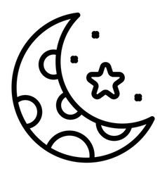 Night time digestion icon outline style vector