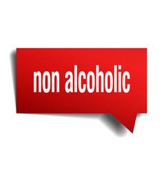 Non alcoholic red 3d speech bubble vector