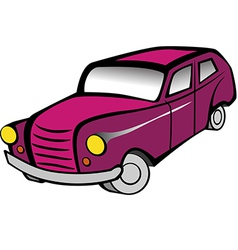 Old Car 2 Pink vector image