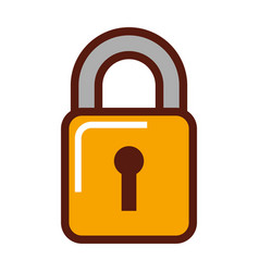 padlock security isolated icon vector image