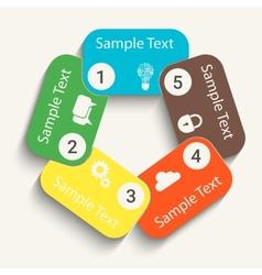 Paper steps vector