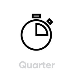 quarter an hour icon vector image