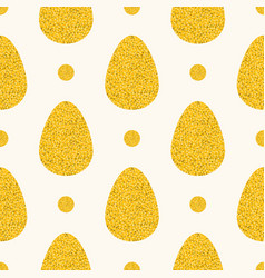 seamless easter pattern with big flat eggs vector image