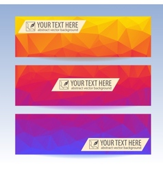 Set of banners for your website triangle vector