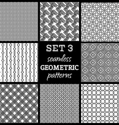 set of boundles geometric patterns vector image