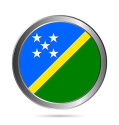 Solomon Islands flag button vector image