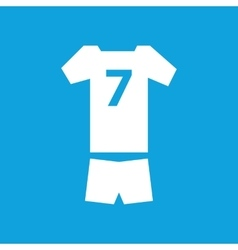 Sport clothes icon simple vector