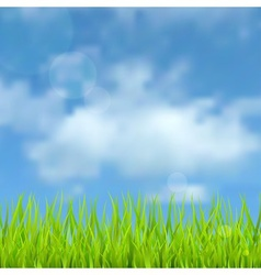 Spring natural background vector image