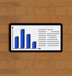 Statistical infochart on tablet vector