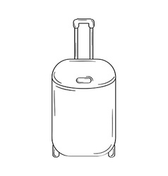 suitcase with wheels vector image