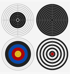 Target board for competition darts game vector
