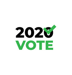 template simple election icon vote election 2020 vector image