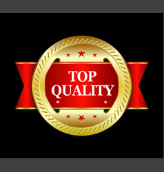 Top quality badge vector