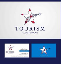 Travel northern cyprus flag creative star logo vector