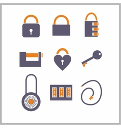 Various locks icons vector image