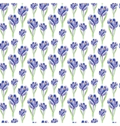Watercolor saffron herb seamless pattern vector image