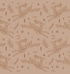 wild moonchild deers vintage ornate animals vector image