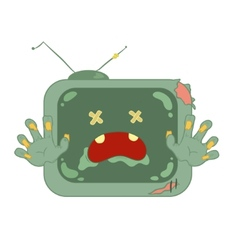 Zombie television on white background vector