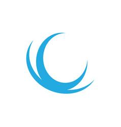abstract wave logo image vector image