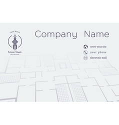 Architectural Business Card vector image