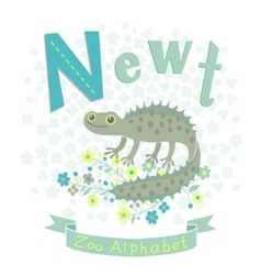 Letter N - Newt vector image