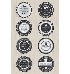 Retro badges set vector