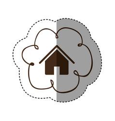 color cloud service connect icon vector image vector image