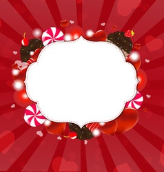 Dessert Frame vector image vector image
