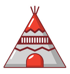 indian tent icon cartoon style vector image