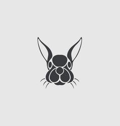rabbit logo icon design template vector image