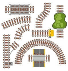 Railway railroad vector image