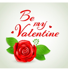 Romantic background with red rose vector image vector image