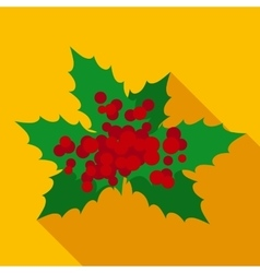 Christmas Mistletoe in Flat Style vector image vector image