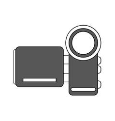 Color silhouette image digital video camera device vector