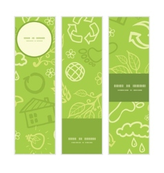 environmental vertical banners set pattern vector image