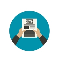 Flat icon of news vector image vector image