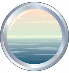 marine porthole vector image vector image