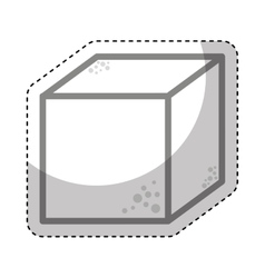 sugar cube sweet icon vector image