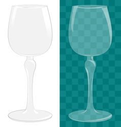 Transparent isolated wine glass vector image vector image