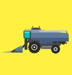 Type of agricultural vehicle or harvester machine vector