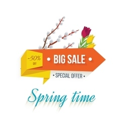 Big sale banner on a white background vector