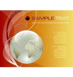 earth globe composition vector image