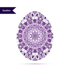 Easter egg background decorated with ornament vector image vector image