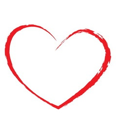 heart drawing vector image vector image