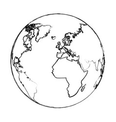 world earth global map continent geography vector image vector image